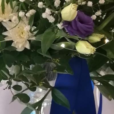 kwiaty wstążka